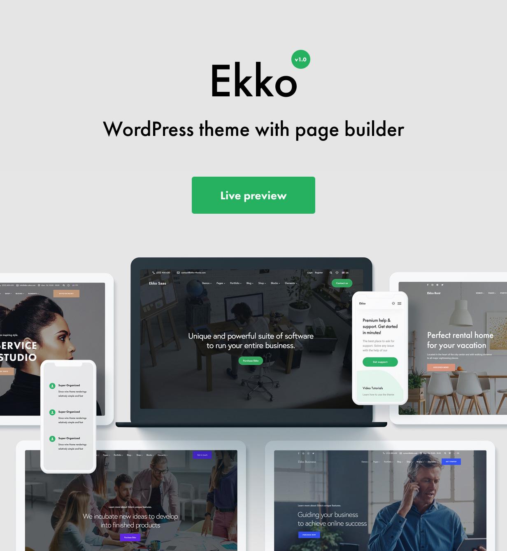 Multi-Purpose WordPress Theme with Page Builder - Ekko