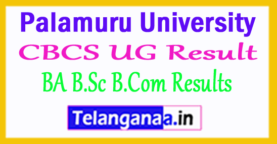 Palamuru University CBCS UG Result 2018 BA B.Sc B.Com Results