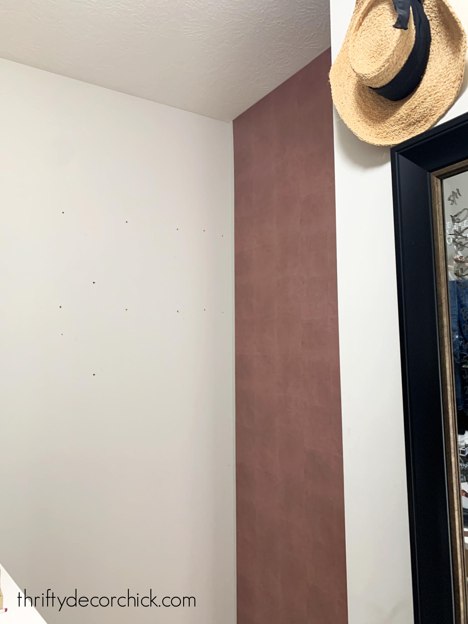 metallic pink peel and stick wallpaper