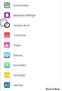 barra de notificaciones de iphone en android