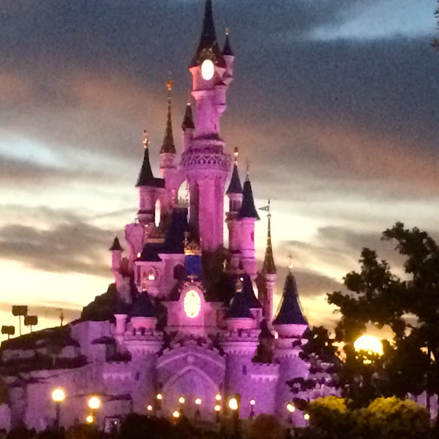 Disneyland Paris, castle at night