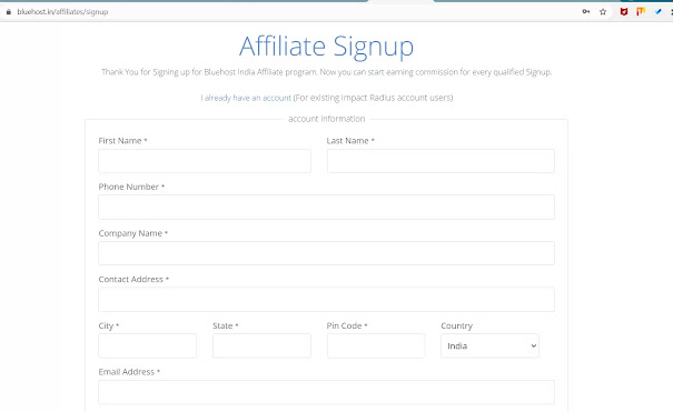 How to Join bluehost Affiliate Programs in india to make High Passive income