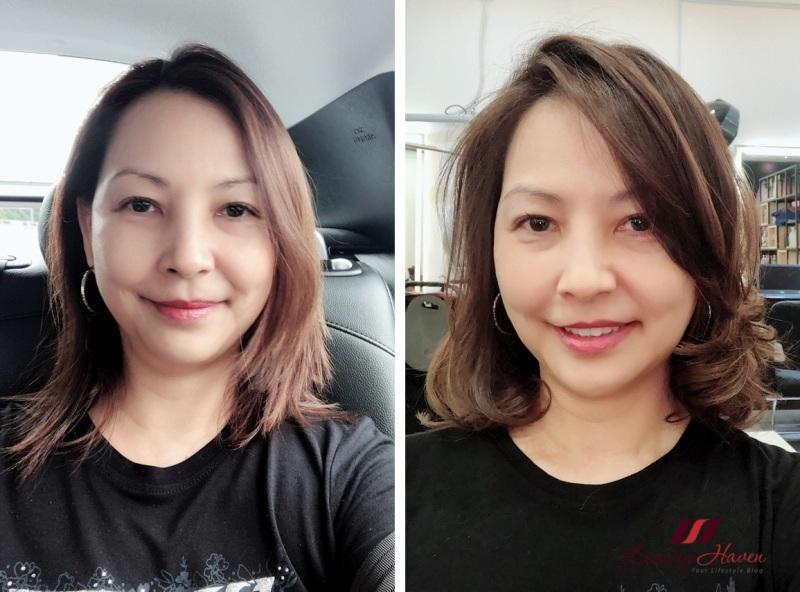 singapore beauty influencer reviews h4u salon hair cut