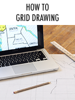 Grid drawing helps you transfer a small image onto a larger surface