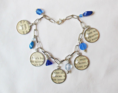 image charm bracelet literature to kill a mockingbird handmade atticus finch boo radley harper lee two cheeky monkeys ombre
