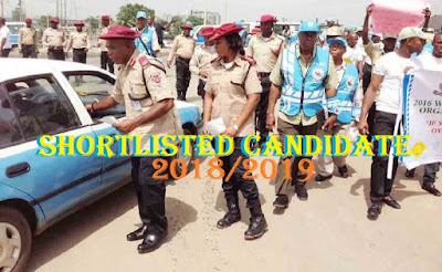 Federal Roads Safety Recruitment Gist See Shortlisted Candidates 2018/19