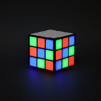 Altavoz Bluetooth Cubo Rubrik LED