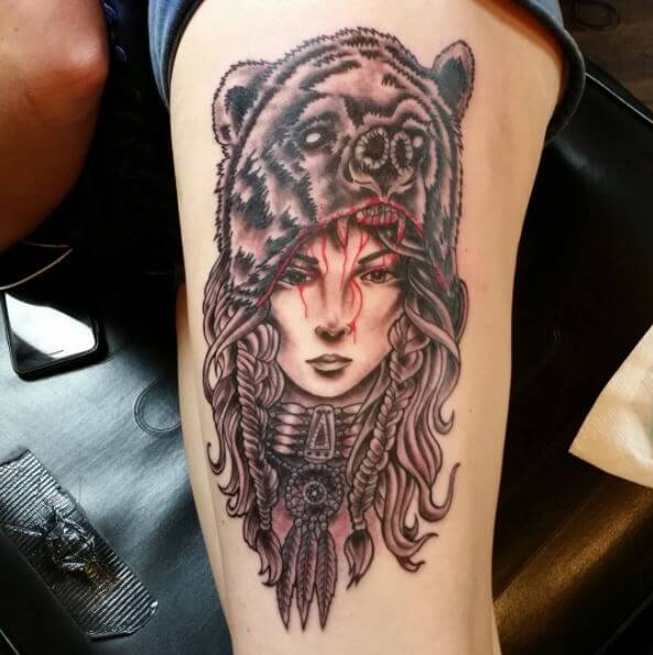 50 traditional native american tattoos with meaning 2018 for Native american warrior tattoos