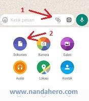pilih dokumen untuk mengirim file PNG di whatsapp