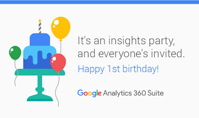 Happy 1st Birthday, Google Analytics 360 Suite! It's an insights party, everyone's invited