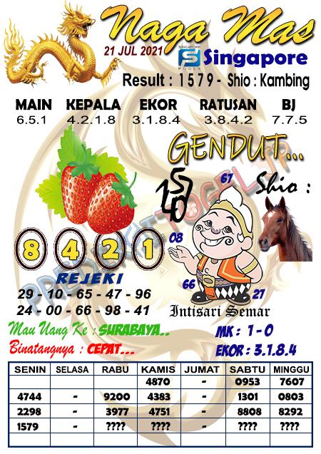 Syair Naga Mas SGP Rabu 21 Juli 2021