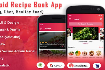 Android Recipe Book App v2.1 - (Cooking, Chef, Healthy Food, Admob with GDPR)