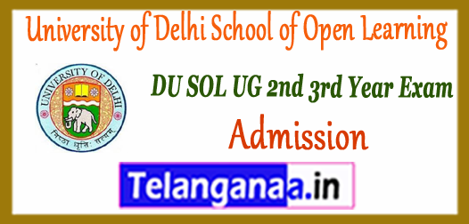 DU SOL University of Delhi School of Open Learning UG IInd IIIrd Year Demand Letter 2018-19 Admission
