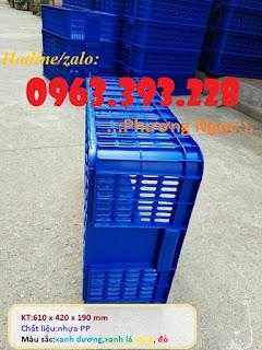 Sọt nhựa đựng hàng hóa, sóng nhựa cao 19, sọt đựng nông sản 2c523be0b9515b0f0240