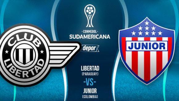 Junior - Libertad EN VIVO: cómo ver gratis partido de Copa Sudamericana
