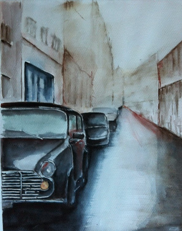 Rue de Paris, Aquarelle
