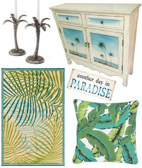 Tropical Palm Decor