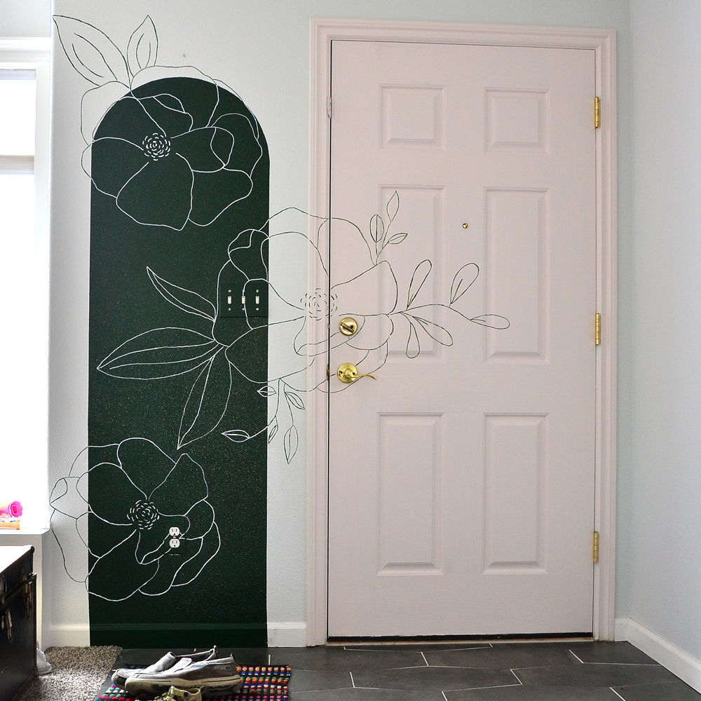 How to Paint a Floral Mural with a Projector - Sisters, What!
