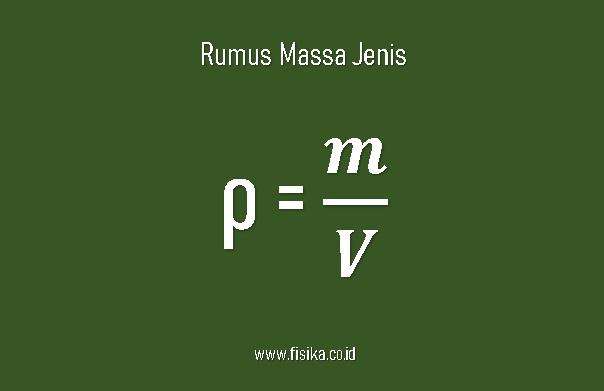 rumus massa jenis contoh soal