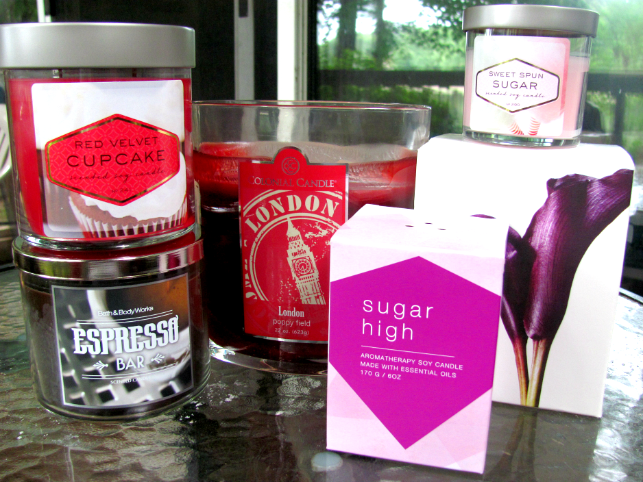 scented-candle-haul, bath-and-body-works, colonial-candle, dayna-decker