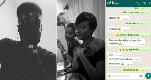 #KeepTheChangeBae: How Lady Got Twitter Guy's Account Number After He Begged for Chicken [See Hilarious Tweets]