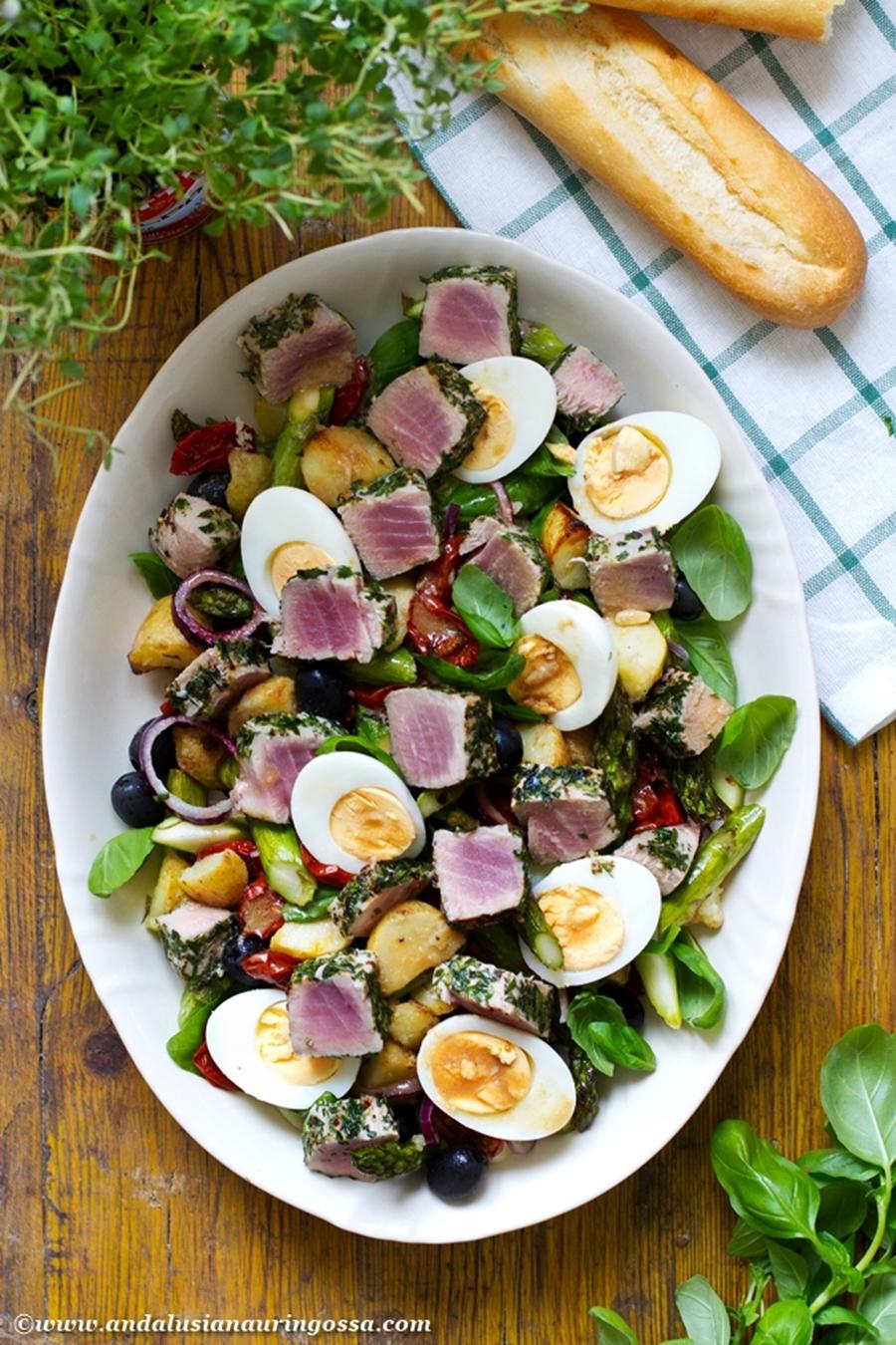 Andalusian auringossa_perunareseptejä ympäri maailman_Nizzan salaatti_gluteeniton_kosher