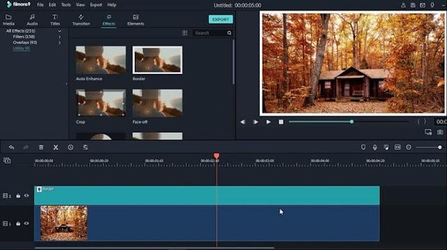 دورة شرح Filmora 9 عمل إطار إحترافي للفيديو والصور add a border to your videos in filmora
