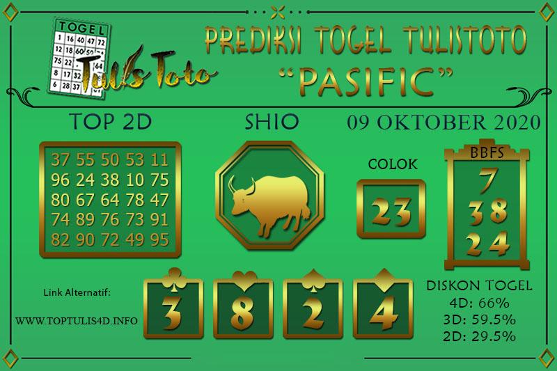 Prediksi Togel PASIFIC TULISTOTO 09 OKTOBER 2020