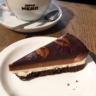 Vegan chocolate cheesecake Caffe Nero