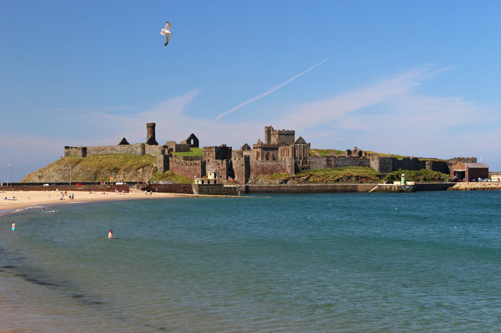 Isle Of Man Photo Diary Peel beach and castle