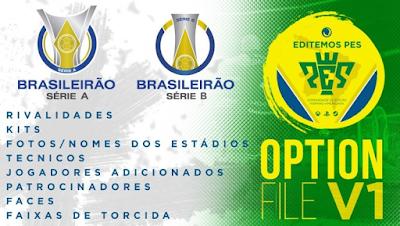 eFootball PES 2020 PS4 Option File Brasileiro Serie A and B by EditemosPES
