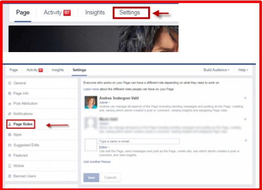 how to add admin on facebook page