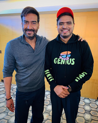 Amit Bhadana With Ajay Devgan