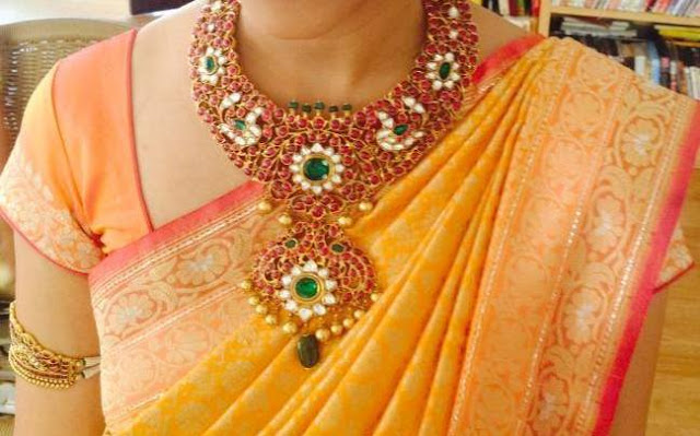 Heavy Kundan Peacock Set with Drops