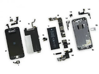 apple iphone parts diagram for Identification of components
