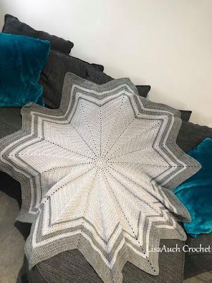 crochet baby blanket ripple star- crochet patterns for boys