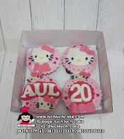Cupcake Fondant 2D Hello Kitty
