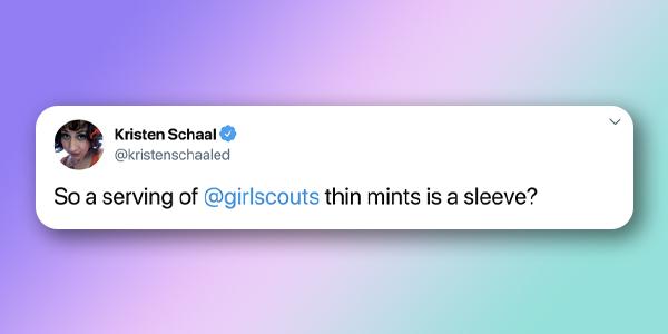 Girl Scout Cookie tweets