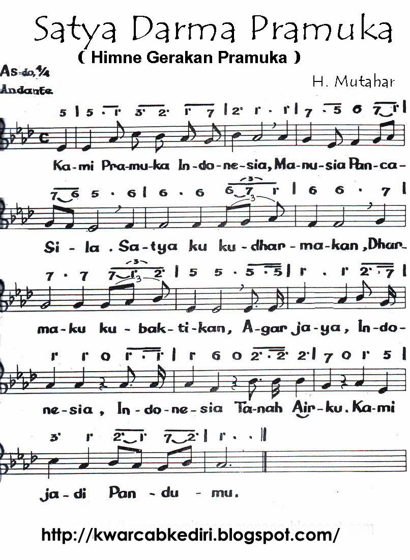 Not Hymne Pramuka : hymne, pramuka, Hymne, Pramuka, Kumpulan