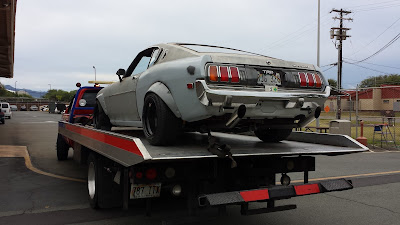 1977 Toyota Celica on Tow Truck