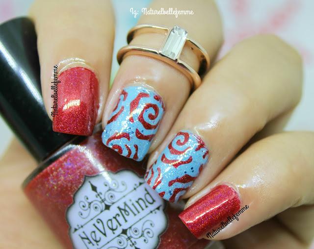 nail vinyls rose