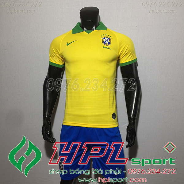 Áo bóng đá đội tuyển Brazil vàng 2020