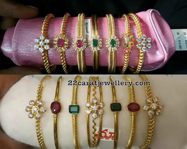Single Stone Light Weight Bangles