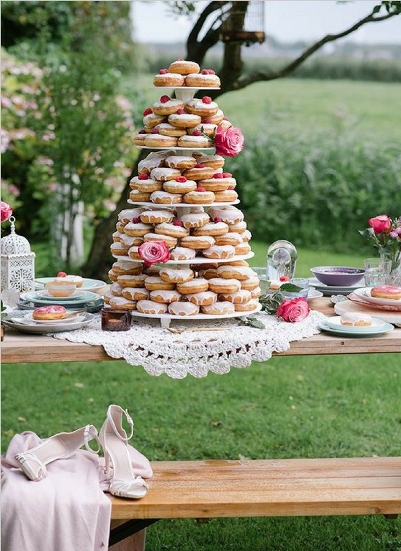 Una donut bar es la nueva tendencia en bodas, eventos personalizados by Habitan2