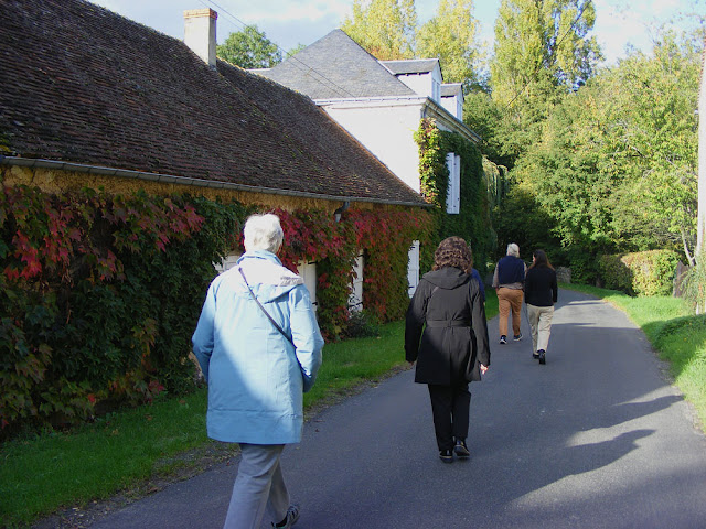 The Hoover family visiting the Moulin de Humeau. Indre et Loire, France. Photographed by Susan Walter. Tour the Loire Valley with a classic car and a private guide.