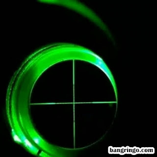 Reticle Mil Dot - Spike 3-12x40 AOL - Lampu hijau-green