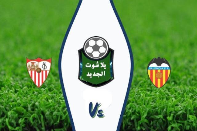 نتيجة مباراة فالنسيا واشبيلية بتاريخ 30-10-2019 الدوري الاسباني