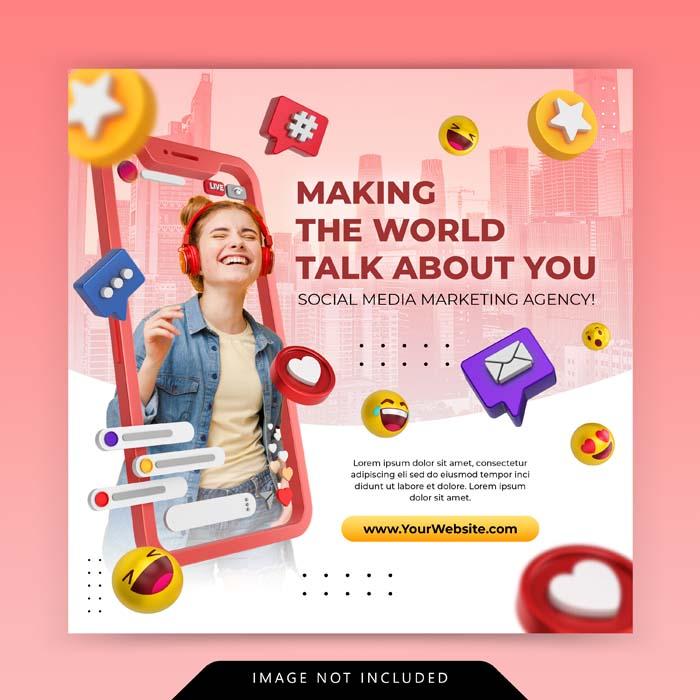 Creative Concept Social Media Instagram Live Digital Marketing Promotion Template
