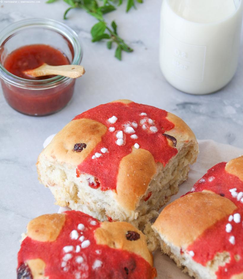 vegane Hot Cross Buns