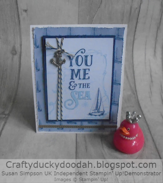 Craftyduckydah!, Sailing Home, Stampin' Up! UK Independent  Demonstrator Susan Simpson, Supplies available 24/7 from my online store, Twisted pop Card,